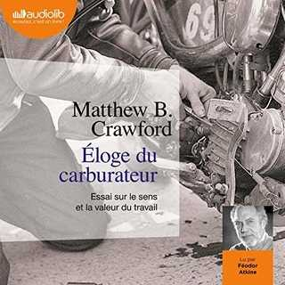 Couverture du livre audio Éloge du carburateur De Matthew B.CRAWFORD